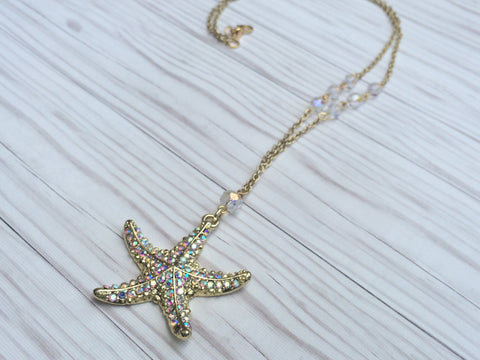 Starry Starfish Necklace