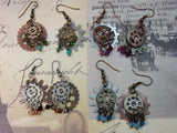 Crystal Gears Earrings