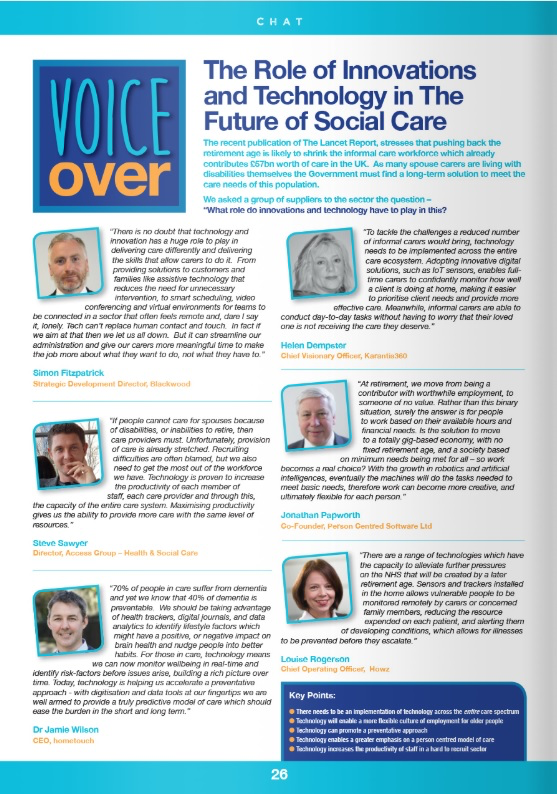 Care Talk November 2018 Edition
