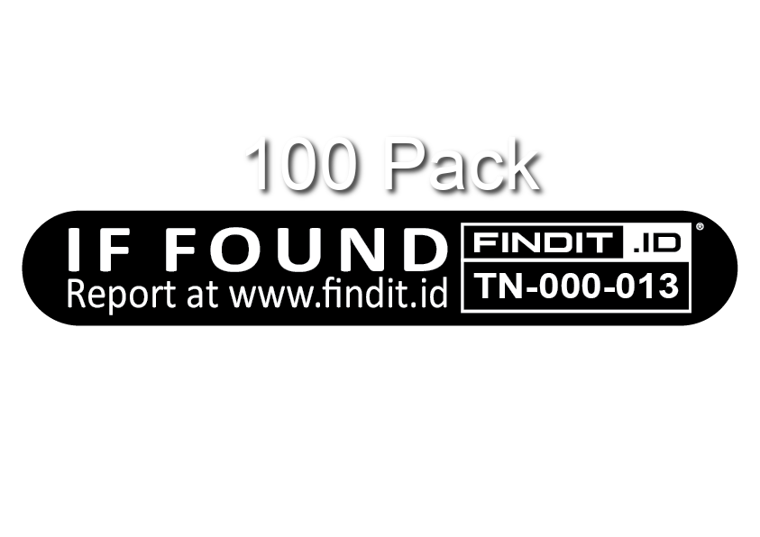 100 x FINDIT.iD Strip Labels - 100 Pack