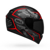 Qualifier Stealth Camo Matte Black/Red-Bell Motorcycle Helmet