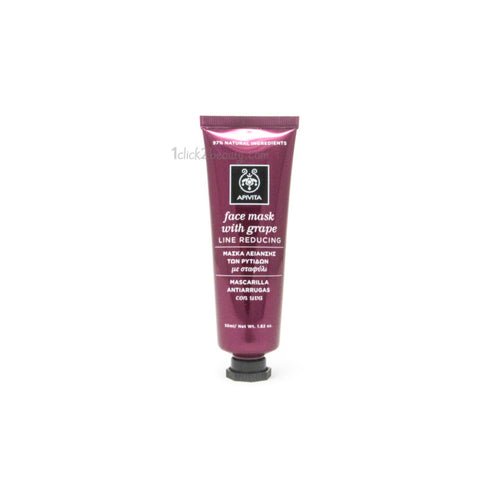Apivita face mask with grape line reducing 葡萄籽緊膚面膜 50ML - 1click2beauty