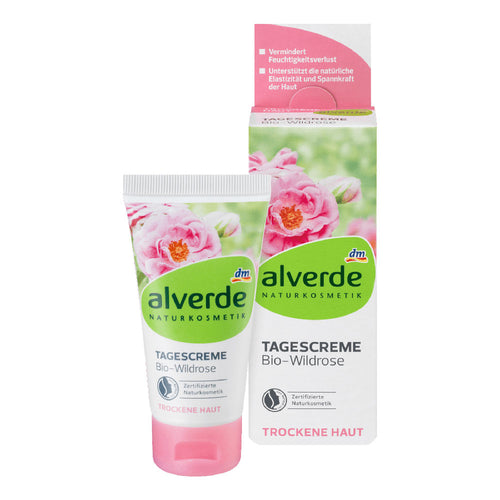 Alverde 有機野玫瑰日霜 50ML - buy European skincare in Hong Kong - 1click2beauty