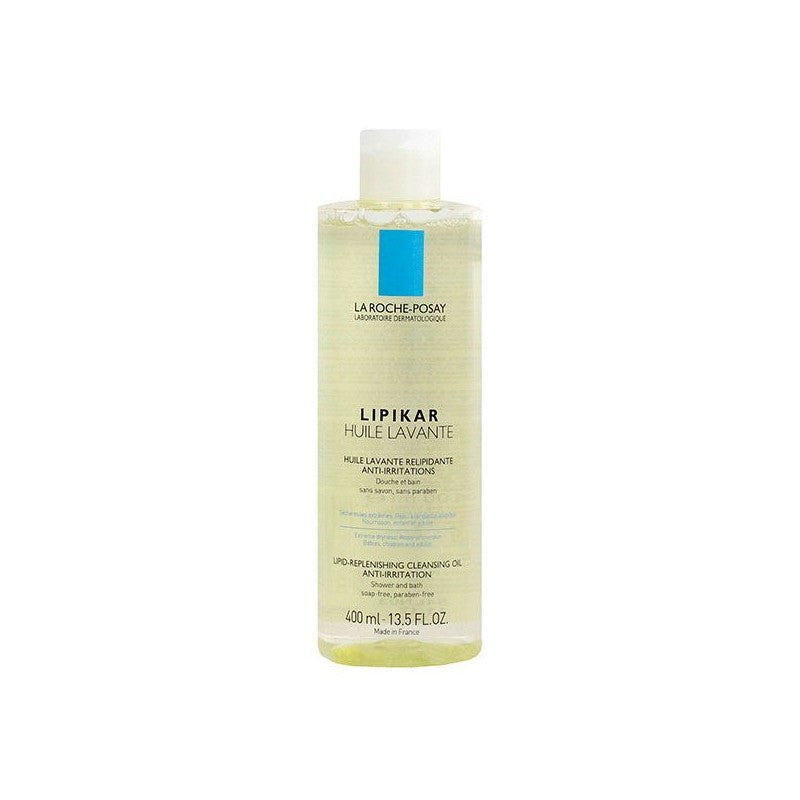 La Roche Posay LIPIKAR CLEANSING OIL 全效修護沐浴油 400ml - buy European skincare in Hong Kong - 1click2beauty