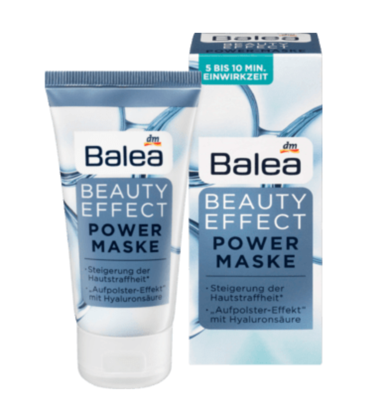 德國Balea Beauty Effect Power Mask玻尿酸面膜霜 50ML - buy European skincare in Hong Kong - 1click2beauty