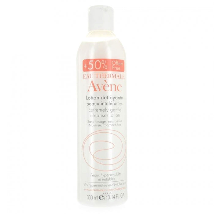 Avene extremely gentle cleanser lotion 修護潔面乳 50%增量裝 300ml - 1click2beauty
