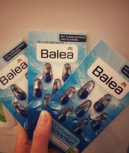 德國BALEA 皇牌海藻保濕精華膠囊 3 PACK 裝21粒 - buy European skincare in Hong Kong - 1click2beauty
