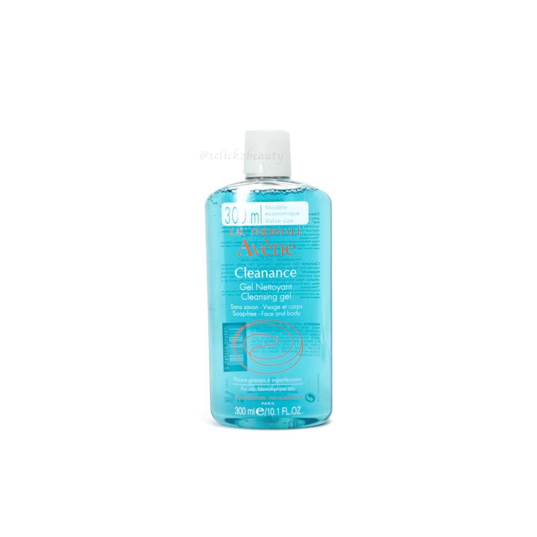 Avene CLEANANCE Gel Soapless Cleanser清爽潔膚啫喱 300ml - buy European skincare in Hong Kong - 1click2beauty