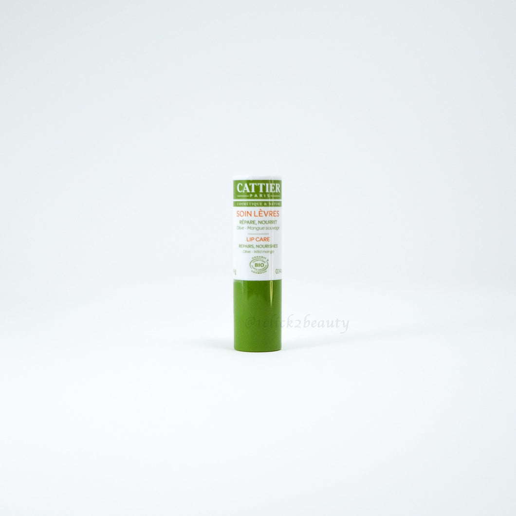 Cattier Paris Olive-Wild Mango lip care 橄欖芒果護唇膏 4g - buy European skincare in Hong Kong - 1click2beauty