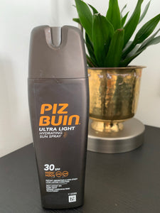 Piz Buin ultra light hydrating spray 助曬乳 - buy European skincare in Hong Kong - 1click2beauty