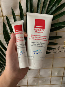 Papulex set (Papulex oil free cream 40ml +  soap free cleansing gel 150ml)