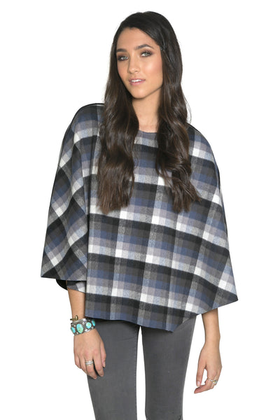 PLAID CASHMERE CAPE