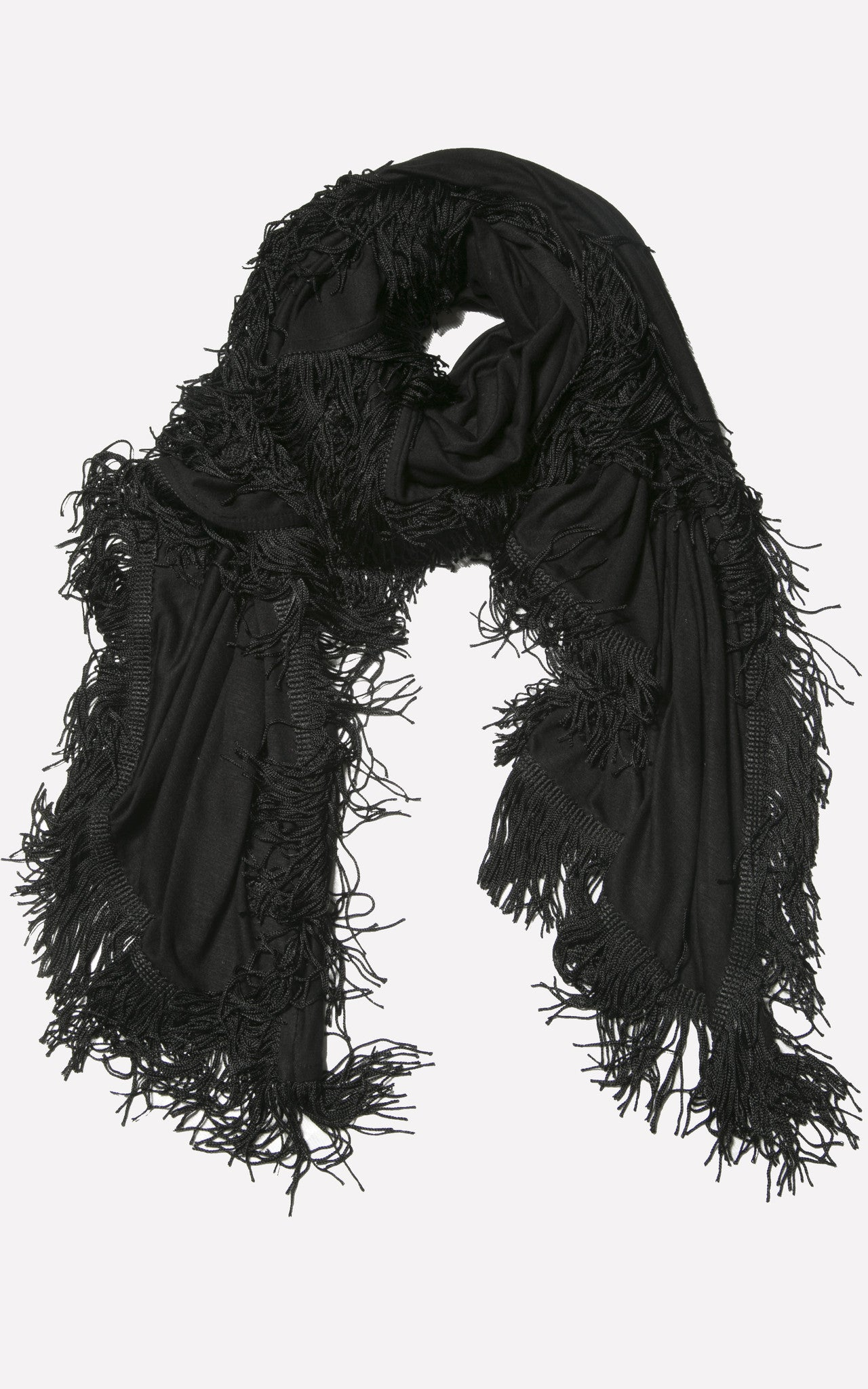 BLACK TASSEL WRAP