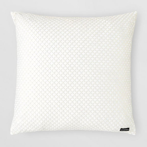 WHITE/GOLD CUTOUT PILLOW