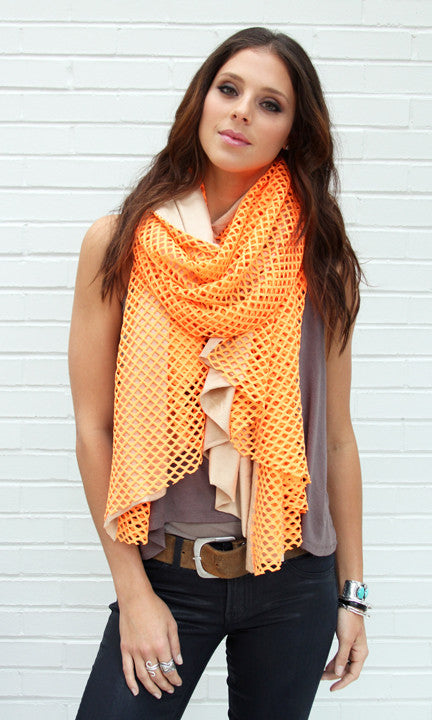Neon Orange Cutout Wrap with Jersey