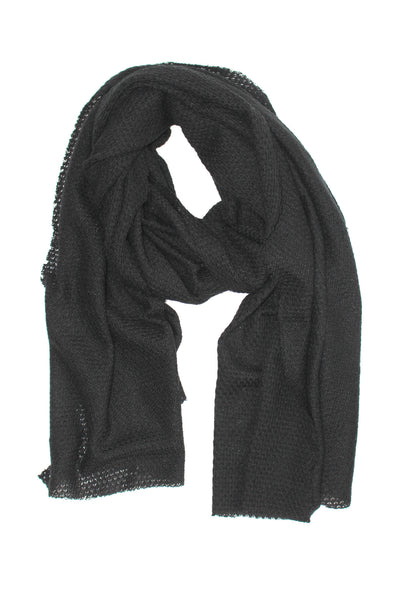 BLACK KNIT WRAP