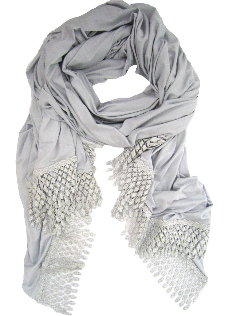 METALLIC LACE TRIM WRAP
