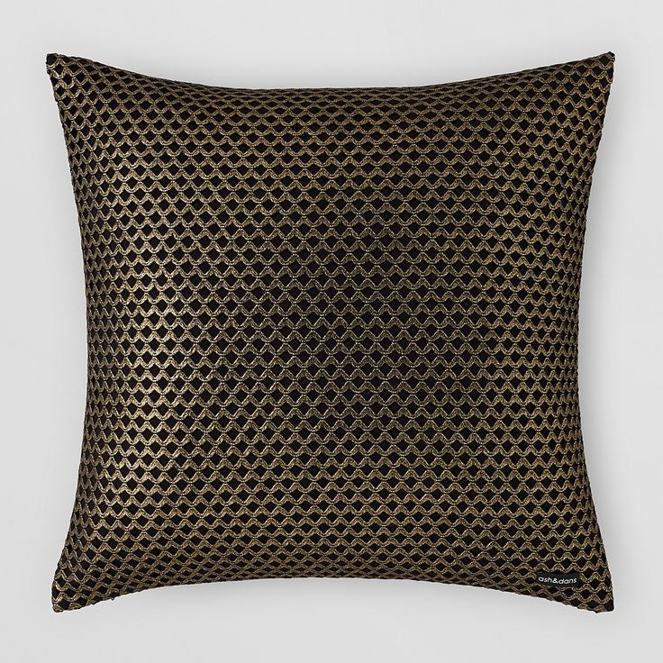 GOLD/BLACK CUTOUT PILLOW