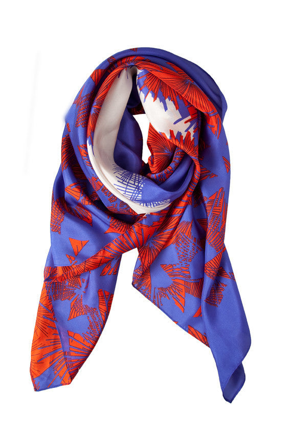 BRIGHT ABSTRACT SILK SCARF