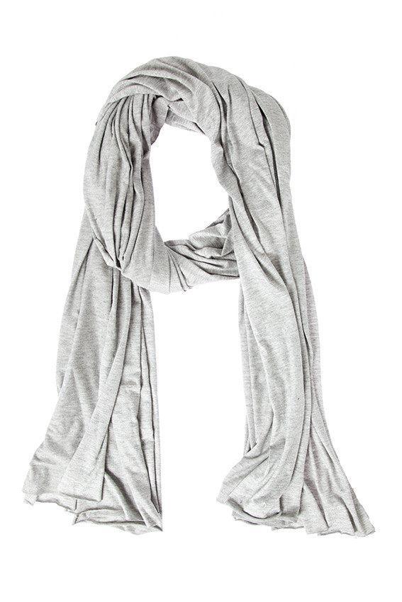 HEATHER GREY OVERSIZED JERSEY WRAP