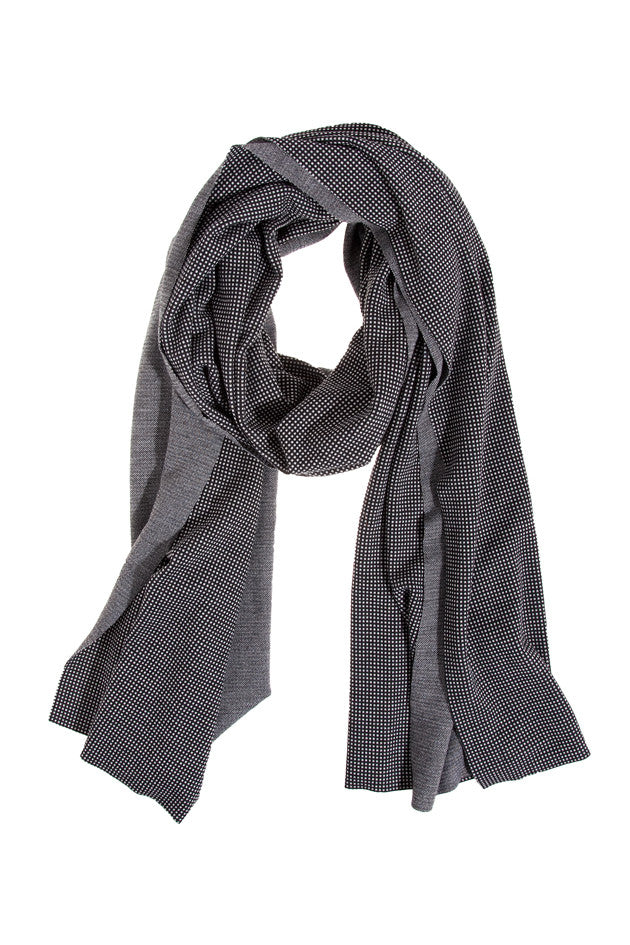 Printed Grey Jersey Wrap Scarf