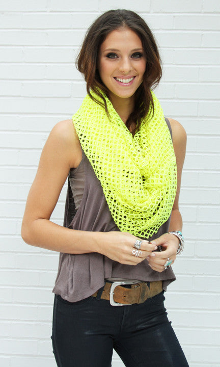 Neon Yellow Cutout Infinity