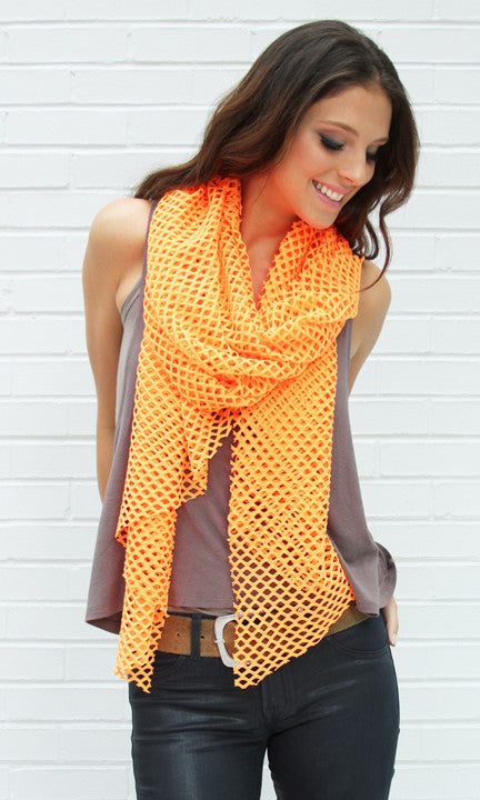 Neon Orange Cutout Wrap
