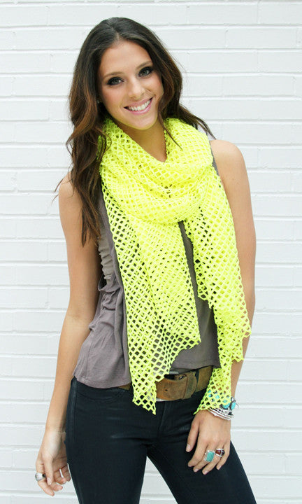 Neon Yellow Cutout Wrap