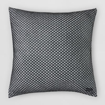 SILVER/GREY CUTOUT PILLOW