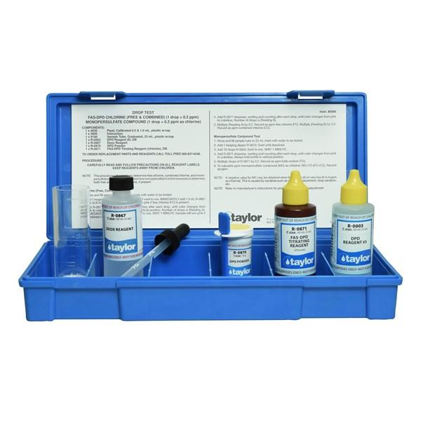 Taylor FAS-DPD/Monopersulfate Drop Test Kit