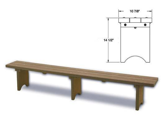 Nordesco Plastic Bench 10 feet