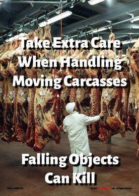 Can handling hanging carcasses in factory.