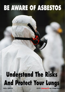 Three people dressed in full protective clothing and face masks prior to asbestos removal.