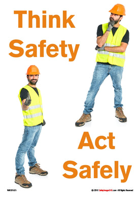 Two pictures of workman with safety equipment.