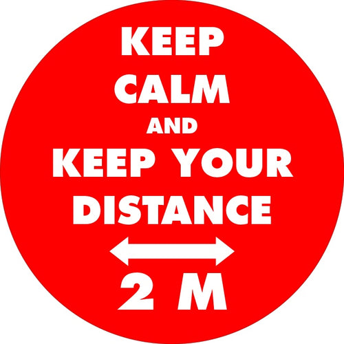 Button Badges - KEEP CALM AND KEEP YOUR DISTANCE.