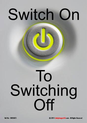 Picture of an on/off switch on a white background with black text.