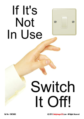 Light switch with female hand about to switch it off.