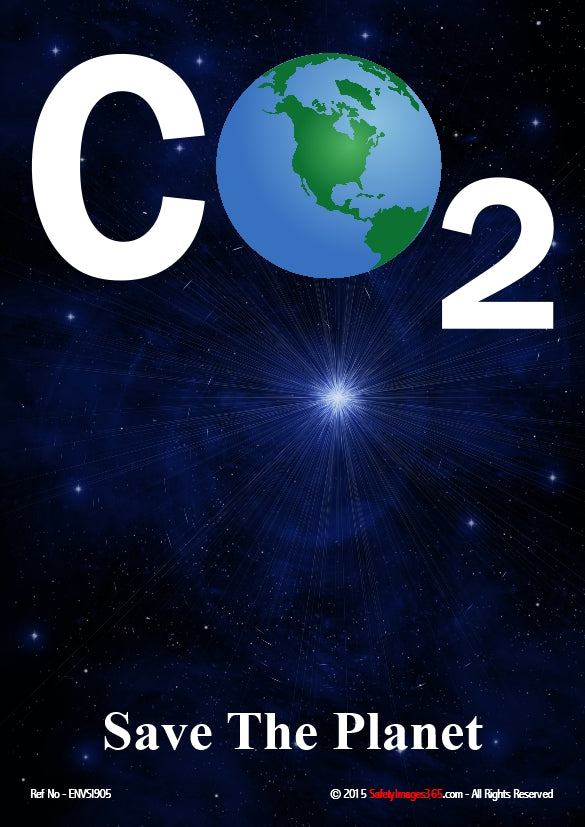 Picture of planet earth depicting the O in the word CO2.