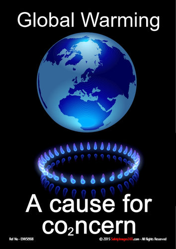Picture of planet earth being heated by a lit gas burner depicting global warming.