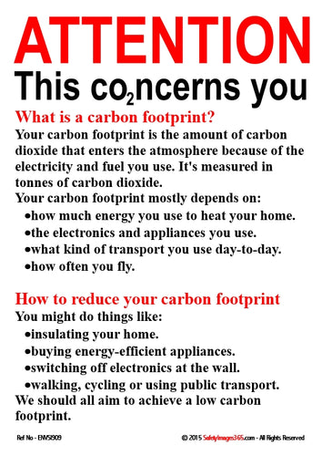 Text only - explaining what is meant by a carbon footprint and how to reduce your carbon footprint.