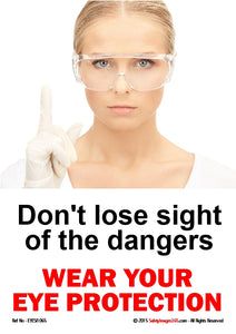 Picture of woman wearing safety goggles.