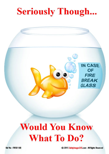 Picture of a cartoon goldfish in a fish bowl.