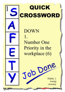 The word safety in a crossword grid.