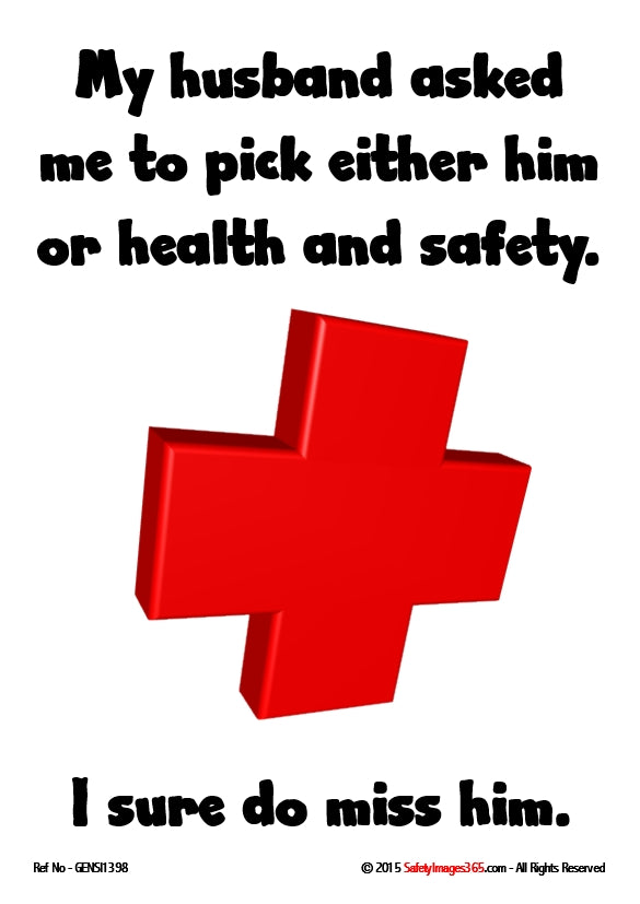 A large red cross on a white background with black text.