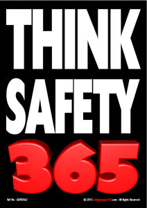 "Text ""Think Safety 365"" on black."