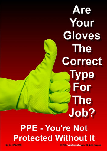 Picture of a hand wearing a glove and making the thumbs up sign.