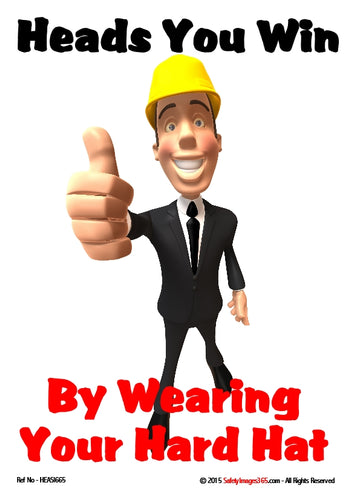 Picture of a man wearing a hard hat giving the thumbs-up sign.