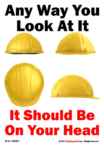 Images of a safety helmet from different angles.