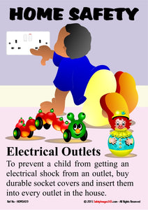 Young child poking finger into live electrical socket.