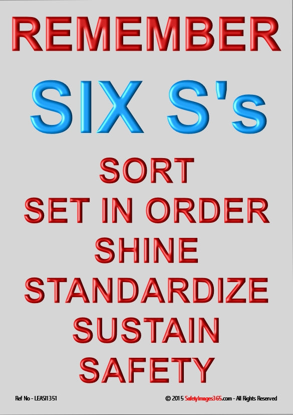 Text only listing the six elements of 6S.